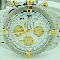 Breitling Chronomat Evolution Acero y oro 44mm Blanco Arábigos
