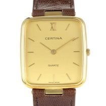 Certina Yellow gold 22.5mm Quartz 5038150 pre-owned