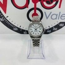 Rolex Acero Automático Blanco Romanos 26mm usados Oyster Perpetual Lady Date