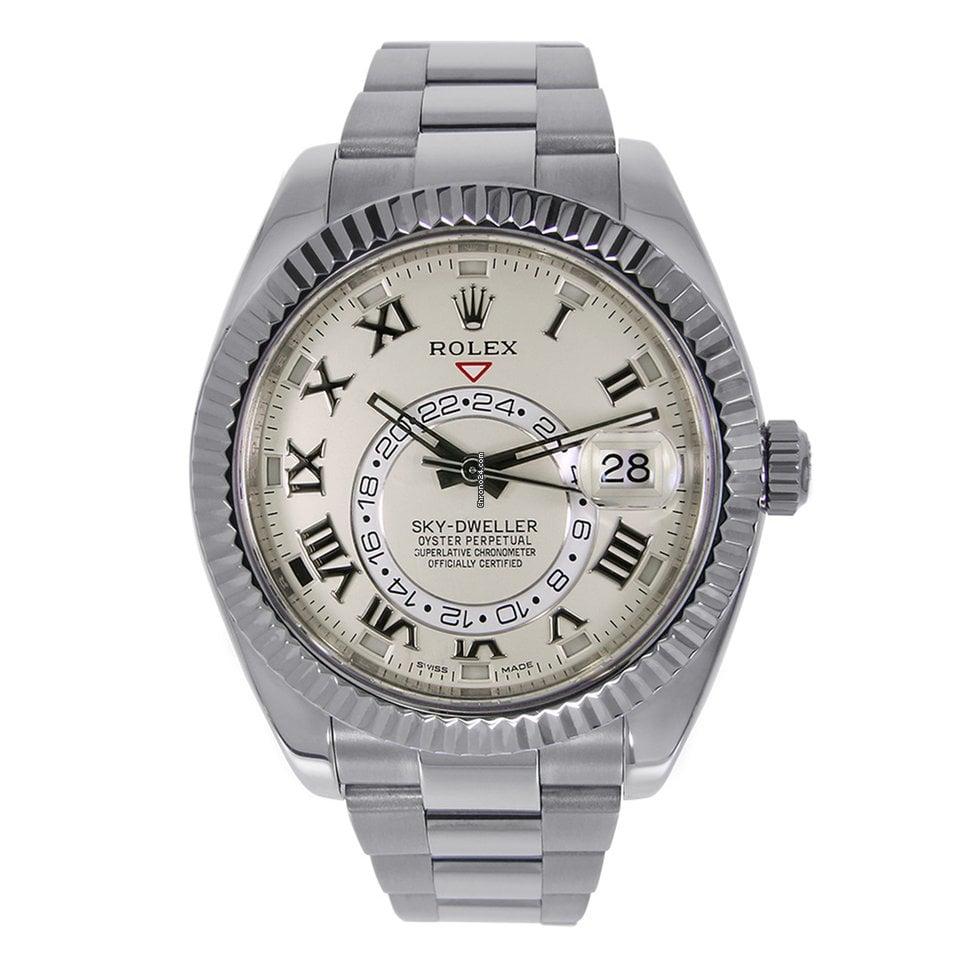 42mm Watch Dweller Sky 18k Gold White 326939 Rolex 8k0PXOnw