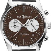 Bell & Ross Vintage nouveau Remontage automatique Chronographe Montre avec coffret d'origine BR-126-OFFICER-BROWN