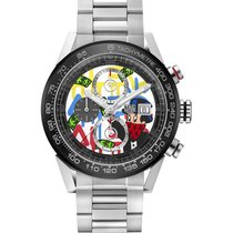 TAG Heuer CAR201AA.BA0714 Steel Carrera Calibre HEUER 01 43mm new