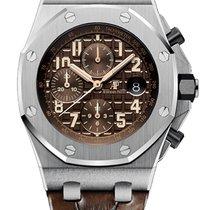 Audemars Piguet Royal Oak Offshore Chronograph Steel 42mm Brown Arabic numerals