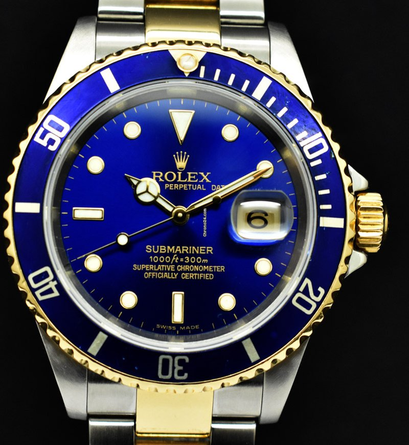 diseño atemporal 73200 c78b6 Rolex Submariner Date steel & gold Blue dial