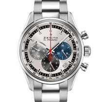 Zenith El Primero Original 1969 Steel 38mm Silver No numerals United Kingdom
