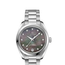 Omega Steel Automatic Mother of pearl No numerals 34mm new Seamaster Aqua Terra