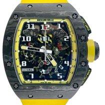 Richard Mille RM 011 Koolstof 49.94mm Zwart Arabisch