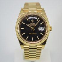 Rolex Day-Date 40 Geelgoud 40mm Zwart Nederland, Franeker