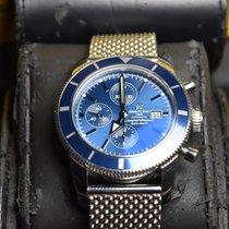 Breitling Superocean Héritage Chronograph Stahl 46mm Blau Keine Ziffern
