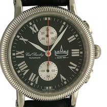 Askania C. Bamberg Automatik Chronograph Lederband 44mm Neu...