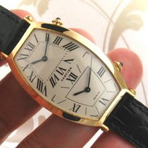 Cartier Tonneau Dual Time 18K Yellow Gold Ladies Watch