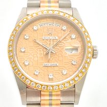 Rolex Day-Date Tridor Dia Dial factory Bezel Orig. Brill Lünette