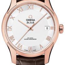 Omega Rose gold Automatic Silver 41mm new De Ville Hour Vision