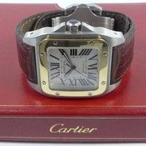 Cartier Santos 100 Gold/Stahl 38mm Weiß Römisch Deutschland, Berlin