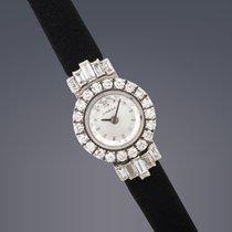 Omega Ladies 18ct white gold & diamond manual cocktail watch
