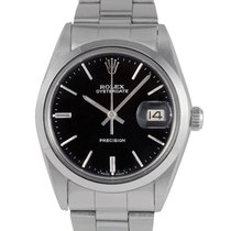 Rolex Oysterdate  Steel with Black Dial, Ref: 6694