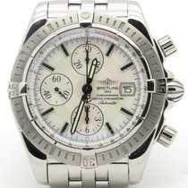 Breitling Chronomat Evolution Mother Of Pearl A13356 Steel...