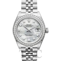 Rolex 279384RBR Or blanc Lady-Datejust 28.00mm nouveau