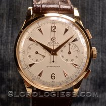 Cyma – Cymaflex Original 1950's 18kt. Pink Gold 37,5 Mm...