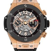 Hublot 45mm Automatic 2015 pre-owned Big Bang Unico Black