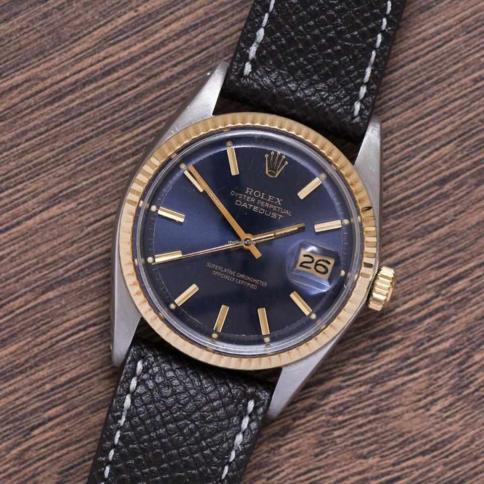 ed9b9404d79a Rolex 1969 Rolex Datejust Bimetal Original Blue Dial Ref. 1600 en venta por   3.800 por parte de un Trusted Seller de Chrono24
