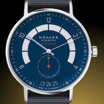 NOMOS Autobahn Steel 41mm Blue Arabic numerals