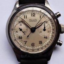 Nivada Chronograaf 36,5mm Handopwind 1956 tweedehands