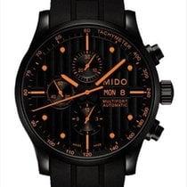 Mido Multifort Chronograph Stal 44mm Czarny