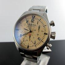 Alpina Startimer Pilot Steel 42mm Brown Arabic numerals