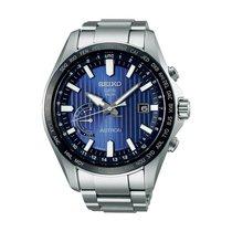 Seiko Astron GPS Solar Chronograph Stahl 55.2mm Blau Arabisch