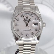 Rolex Day-Date 36 Or blanc 36mm Argent France, Cannes