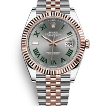 Rolex Datejust II Gold/Steel 41mm Green Roman numerals
