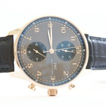 IWC Red gold Automatic Grey Arabic numerals 40,9mm new Portuguese Chronograph