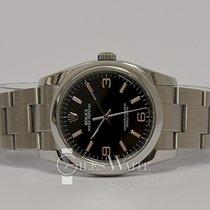 Rolex Oyster Perpetual 36 Zeljezo 36mm Crn Arapski brojevi