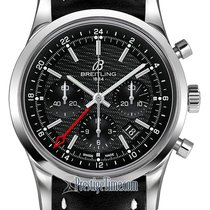 Breitling Transocean Chronograph GMT Steel 43mm Black United States of America, New York, Airmont