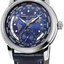 Frederique Constant Manufacture Worldtimer Steel Blue United States of America, New York, Brooklyn