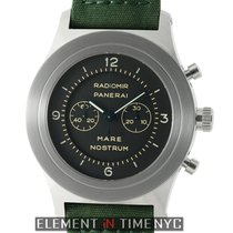 Panerai Mare Nostrum Steel 52mm Black Dial Special Edition...