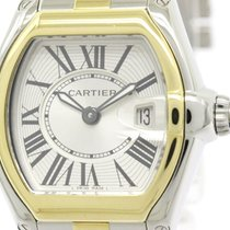 Cartier Roadster 18k Gold Steel Quartz Ladies Watch W62026y4...