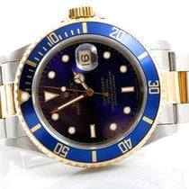 Rolex Mens 18K/SS Submariner - Blue Dial - Oyster Band - 1990s...