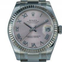 Rolex Datejust Medium Stahl Weißgold Automatik Oyster Armband...