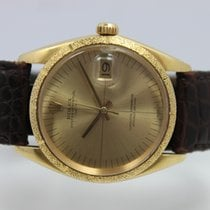 Rolex Yellow gold Automatic Silver No numerals 34mm pre-owned Oyster Perpetual Date