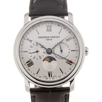 Frederique Constant Classics Business Timer Steel 40mm Silver