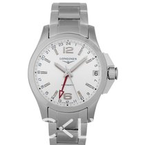 浪琴 Longines Conquest GMT Automatic Silver/Steel 41mm - L3687476