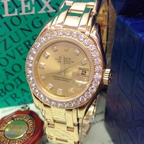 Rolex Lady-Datejust Pearlmaster Yellow gold 29mm Mother of pearl No numerals United Kingdom, Wilmslow