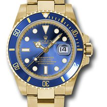 Rolex Submariner Date Gelbgold 40mm Blau