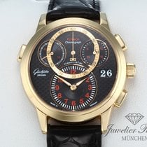 Glashütte Original Rose gold Automatic Black Arabic numerals 39mm pre-owned PanoMaticChrono
