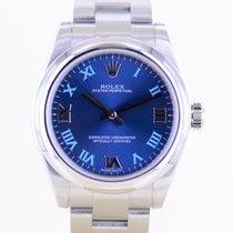 Rolex Oyster Perpetual 31 gebraucht 31mm Blau Stahl