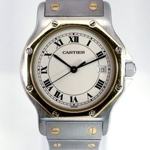 95d8f3178f3 Cartier 187902 Gold Steel 1990 Santos (submodel) 31mm pre-owned United  States