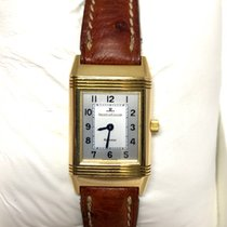 Jaeger-LeCoultre Yellow gold Manual winding Silver Arabic numerals pre-owned Reverso Lady