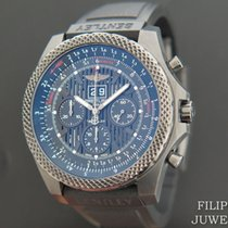 Breitling Bentley 6.75 tweedehands 49mm Zwart Chronograaf Datum Rubber